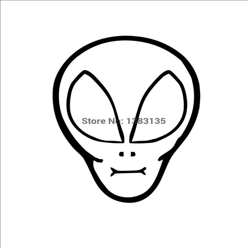 2019 Hotmeini Wholesale Fashion Alien Head Car Sticker For Truck