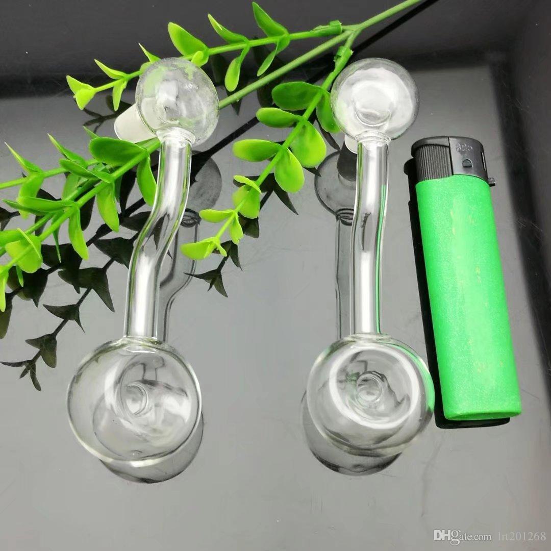 Fovea de vidro transparente Bongos de vidro por atacado Queimadores de óleo Tubos de água Tubos de vidro Óleo