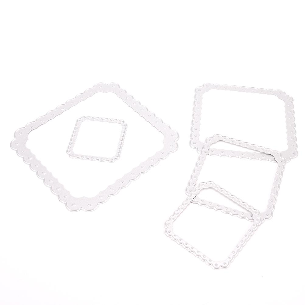 DIY Metal Square Frame Cutting Dies Stencils for DIY Scrapbooking/photo album Decorative Embossing Paper Card