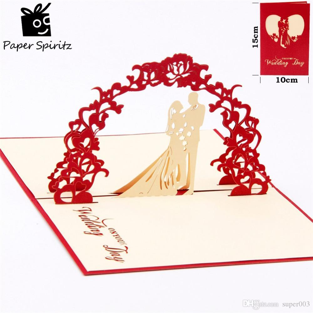 3d Romantic Wedding Invitation Lover Valentines Day Postcards ...