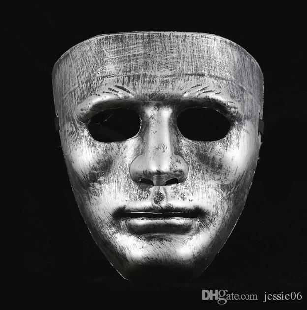 Vintage Men Full Face Mask Venetian Plastic Costume Masquerade Mask Unisex enmascarado máscaras de bola navidad halloween escenario accesorios de rendimiento