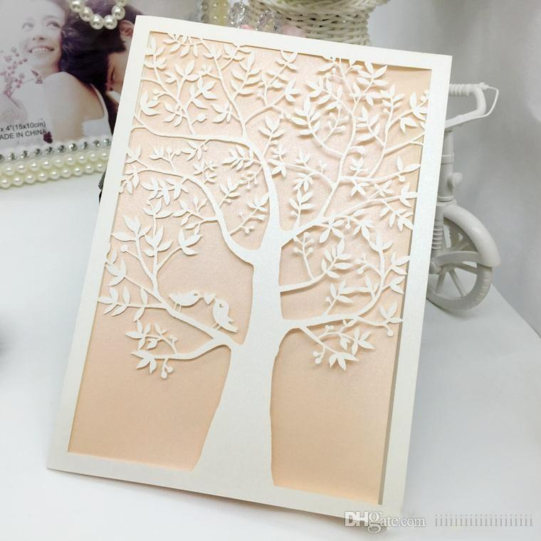 Wedding Invitations Laser Cut Wedding Invitations Love Tree Wedding