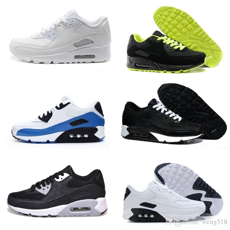 ab657fb44807 Classic 90 Men And Women Running Shoes 90 Black Red White Sports ...