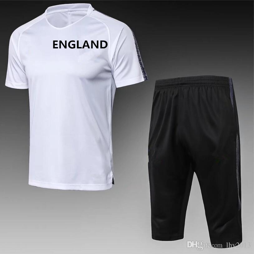 980287fe76c 2018 World Cup England Tracksuit Soccer Jersey 18 19 KANE Training ...