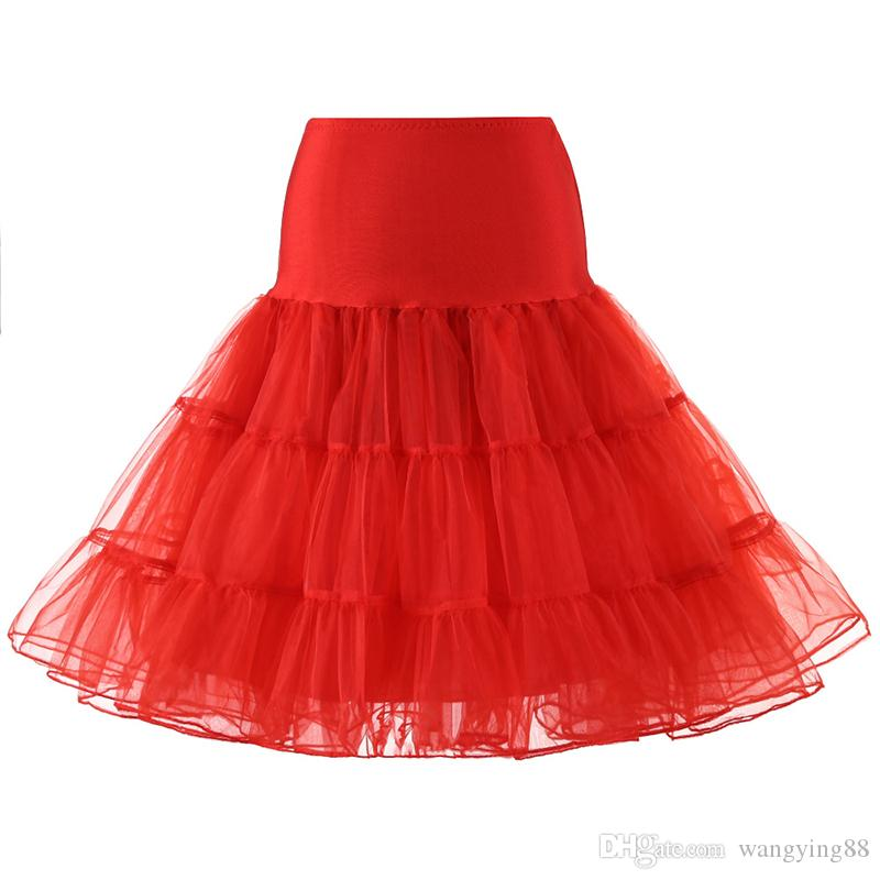Eslieb قصيرة الأورجانزا ثوب نسائي قماش قطني خمر الزفاف العرسان التنورة الداخلية لفساتين الزفاف تحتية روكبيلي