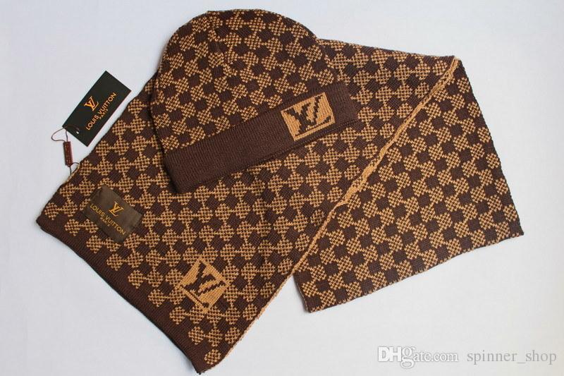 ff1eb95d55a8b Luxury Brand Designer Caps Shawl Winter Adults And Kids Knitting ...