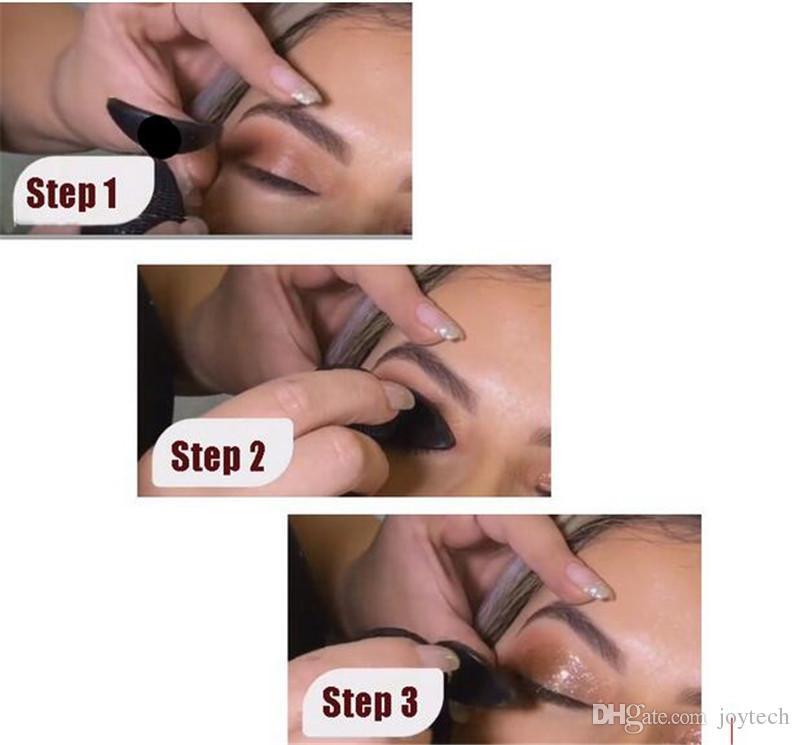 Очень хорошие инструменты макияжа Кристалл ленивый кремниевый тени для век для теней для теней складывается аппликатор теней для глаз