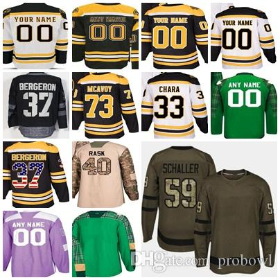 ba01eac3e 2018 Mens Womens Youth Customized Boston Bruins Home Away Green ...