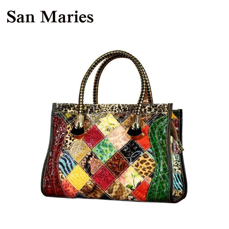 Acquista San Maries Donna Tote Bag In Pelle Verniciata Snake Pattern Borse  Messenger Shoulder Bags Luxury Brand Ladies Handbag A  70.79 Dal  Universe111 ... 9a6238775cb