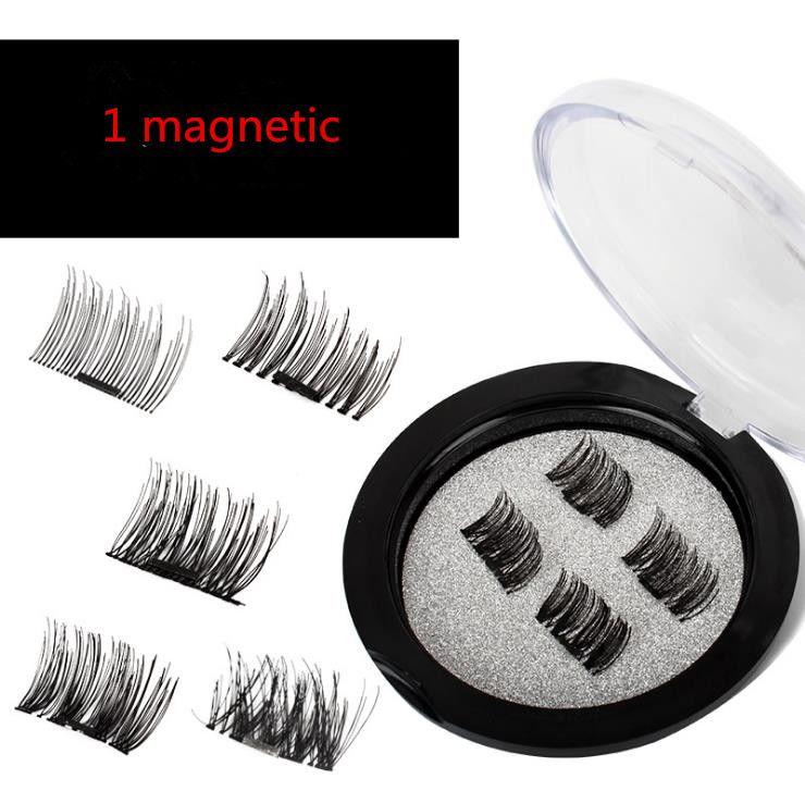 2018 Magnetic Eye Lashes 3D Vison Ímã Falso Reutilizável Cílios Extensão extensões de cílios 3d maquiagem cílios magnéticos a170