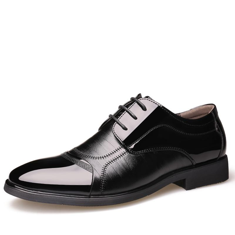 96dac43abe6e 2018 Man Flat Classic Men Dress Shoes Genuine Leather Wingtip Carved  Italian Formal Oxford Plus Size For Winter Pu Dress Shoes Womens Loafers  Mens Leather ...