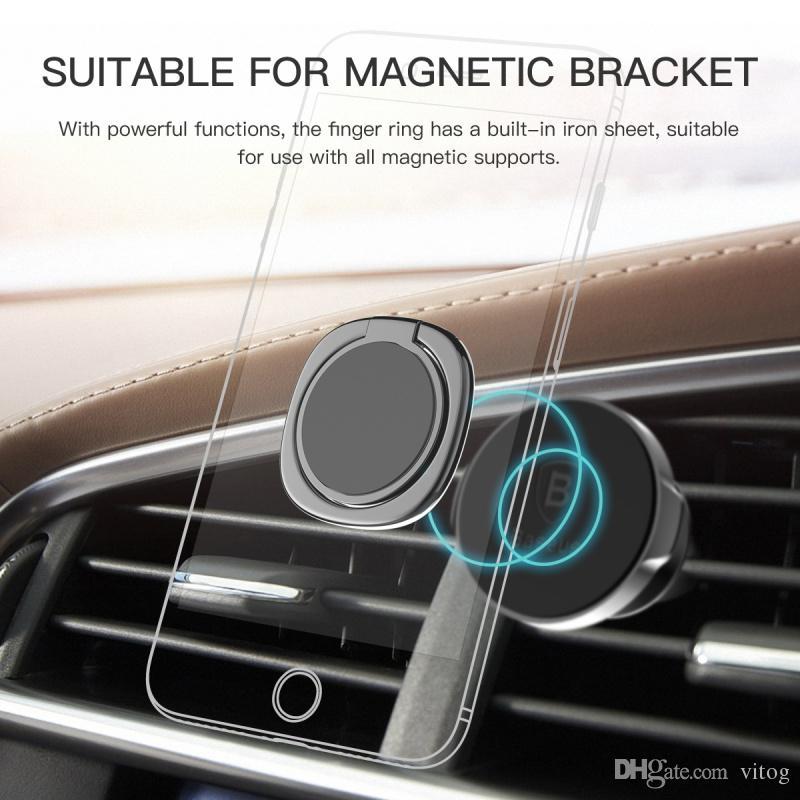 Nouveau Luxe 360 Degré En Métal Anneau Bague Smartphone Mobile Téléphone Support De Doigt Pour iPhone 7 6 Samsung Tablet avec Paquet