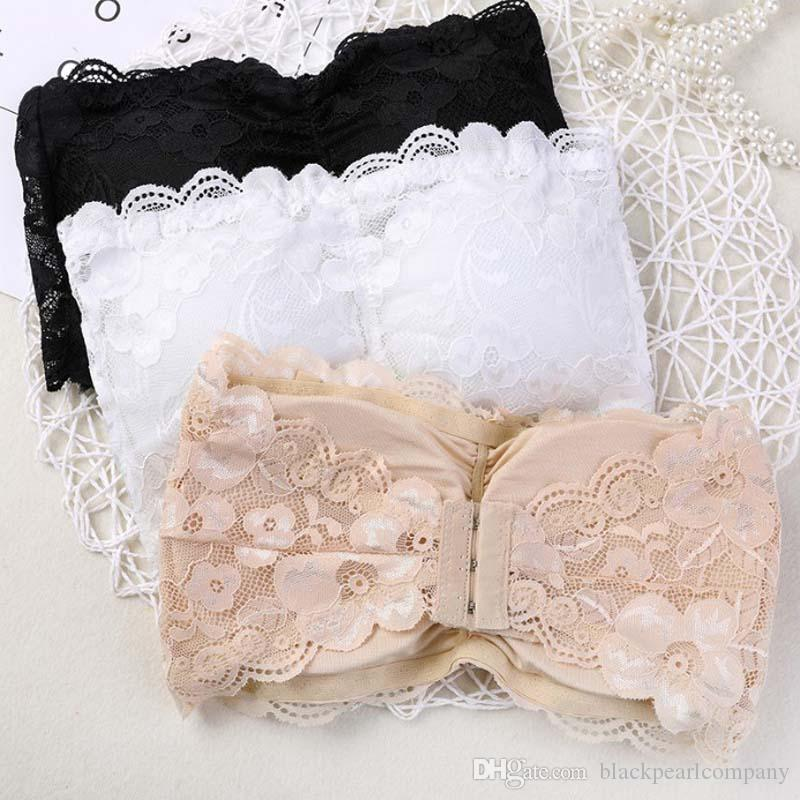 37ce044ce31fe 2018 Summer Brand Strapless Bra Women s Sexy Casual Lace Wrap Tube ...