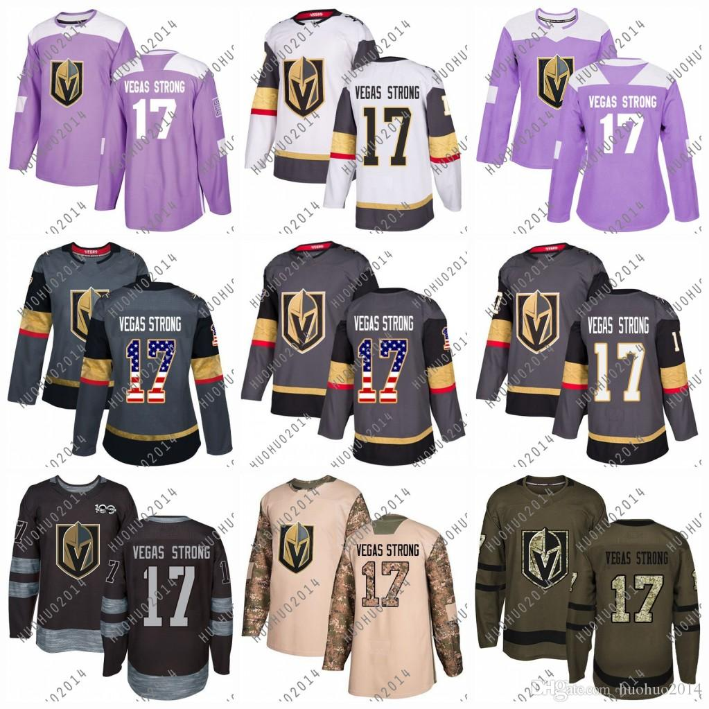 ff47f1504 2019  17 Vegas Strong Hockey Jerseys Vegas Golden Knights USA Flag 2018 Fights  Cancer Camo Veterans Day Green Premier Salute To Service Premier From ...