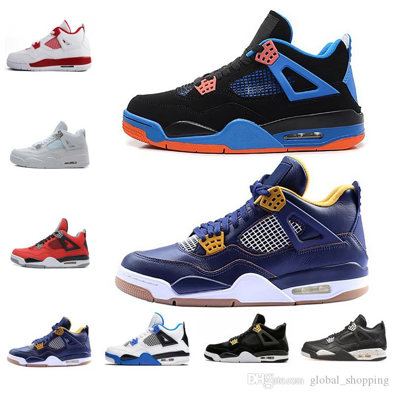 the latest 61530 ed2b8 New Basketball Shoes 4 Free Shipping Doernbecher Angry bull Men 4s Blue IV  Men s Women s Sport Athletic Sneakers Shoes