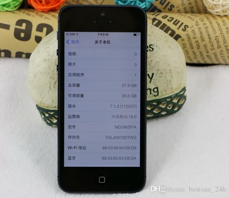 "Original Apple iPhone 5 Unlocked Mobile Phone iOS Dual-core 4.0"" 8MP Camera WIFI GPS refurbished Phone"