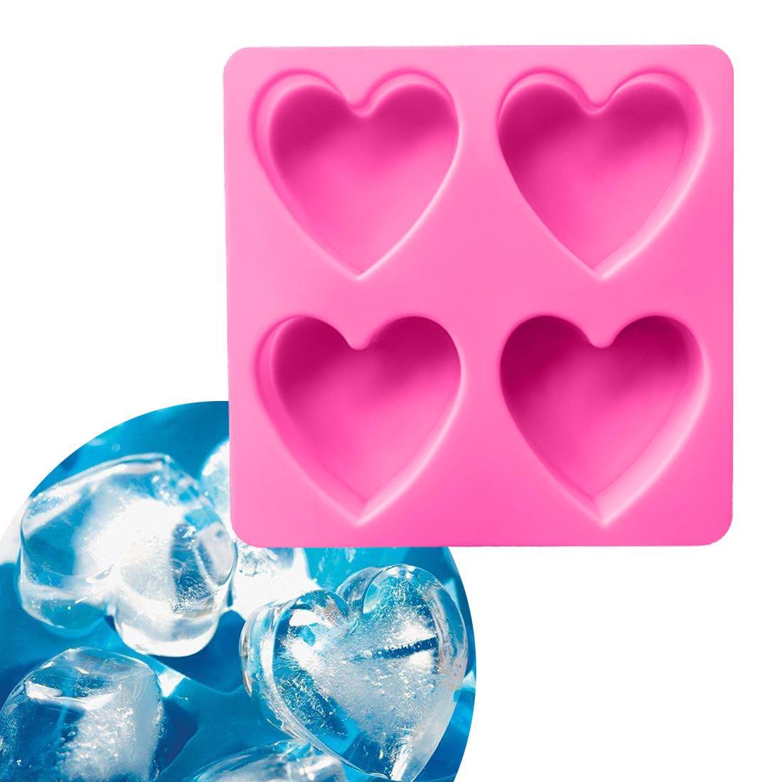 Grosshandel Herzform 4 Locher Silikon Eis Kuchen Seifenformen Fondant