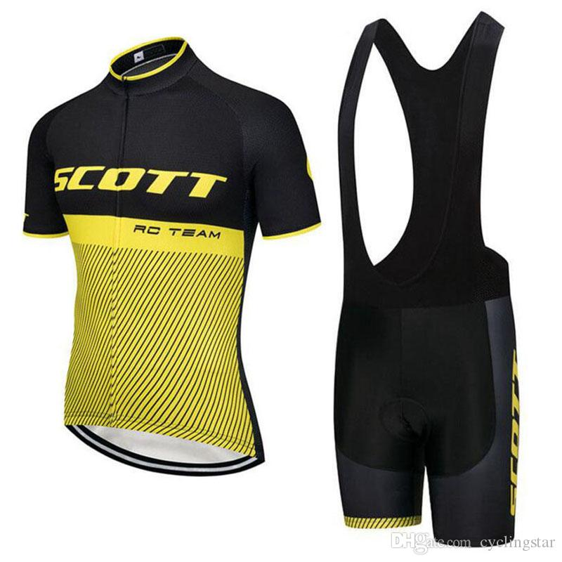2018 Summer Team SCOTT Men Cycling Jersey Set MTB Bike Clothing Breathable  Quick Dry Racing Bicycle Clothes High Quality Sportswear D2101 Cycling  Outfit ... 1e3c6e49f