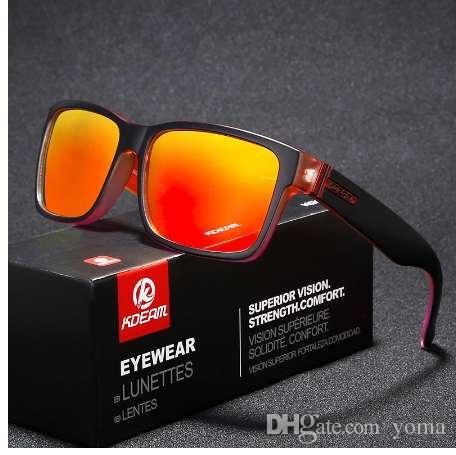 a08af938b06 Revamp Of Sport Men Sunglasses Polarized KDEAM Shockingly Colors Sun Glasses  Outdoor Elmore Style Sunglass With Box Sport Sunglasses Prescription  Sunglasses ...