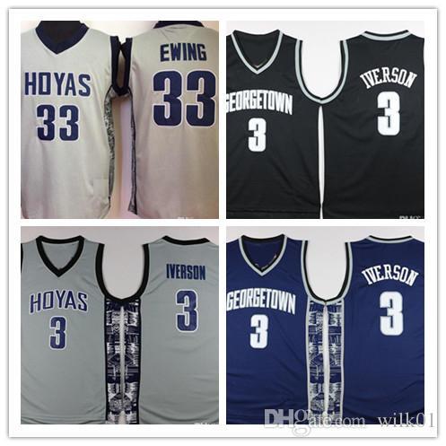 Mens Georgetown Hoyas Iverson College Jersey Cheap 3 Allen Iverson ... 198bb94cb