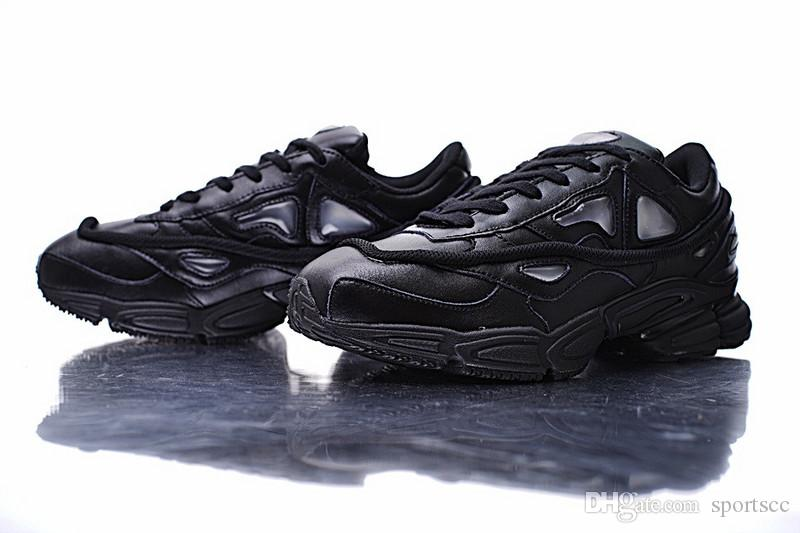 info for 4e792 9317b Free Shipping RAF SIMONS OZWEEGO 2 Running Shoes Mens And Womens Triple  Black Sneakers