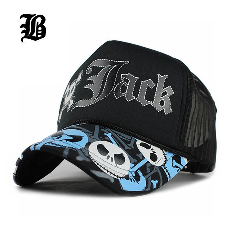 7bd1cdc1be6 FLB Unisex JACK Baseball Cap Breathable Summer Skull Cap With Mesh Casual  Casquette Trucker Hat Adjustable Snapback Hats F219 Cap Shop Flexfit Caps  From ...