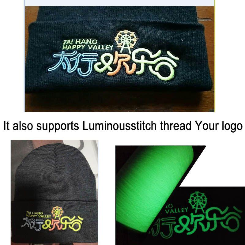 19*20CM Adult beanies Custom Adult Elastic Winter Warm cap stitch logo Skullies & Acrylic Beanies Normal Men Women size Apparel hats