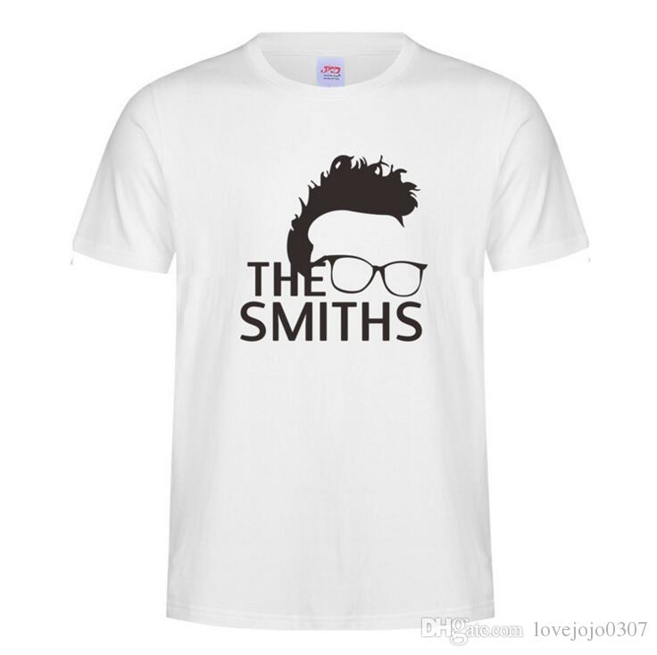 eac86512 The Smiths Funny T Shirt White Black Short Sleeve Cotton Tee Shirts For Man  Rock Band Summer Tops Multi Color The Smiths T Shirt Wholesale 2 T Shirts  And ...