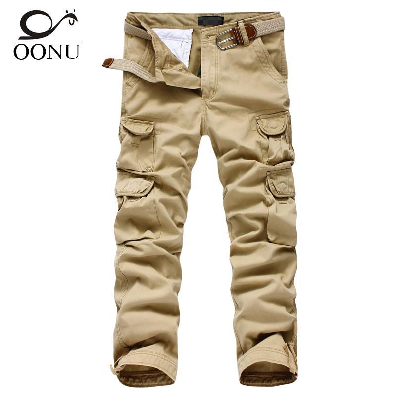 Compre Envío Gratis Para Hombre Pantalones Casuales Ejército Militar Carga  De Combate Pantalones De Trabajo Sueltos Al Aire Libre Cremallera Vestido  ... 44e921a42368