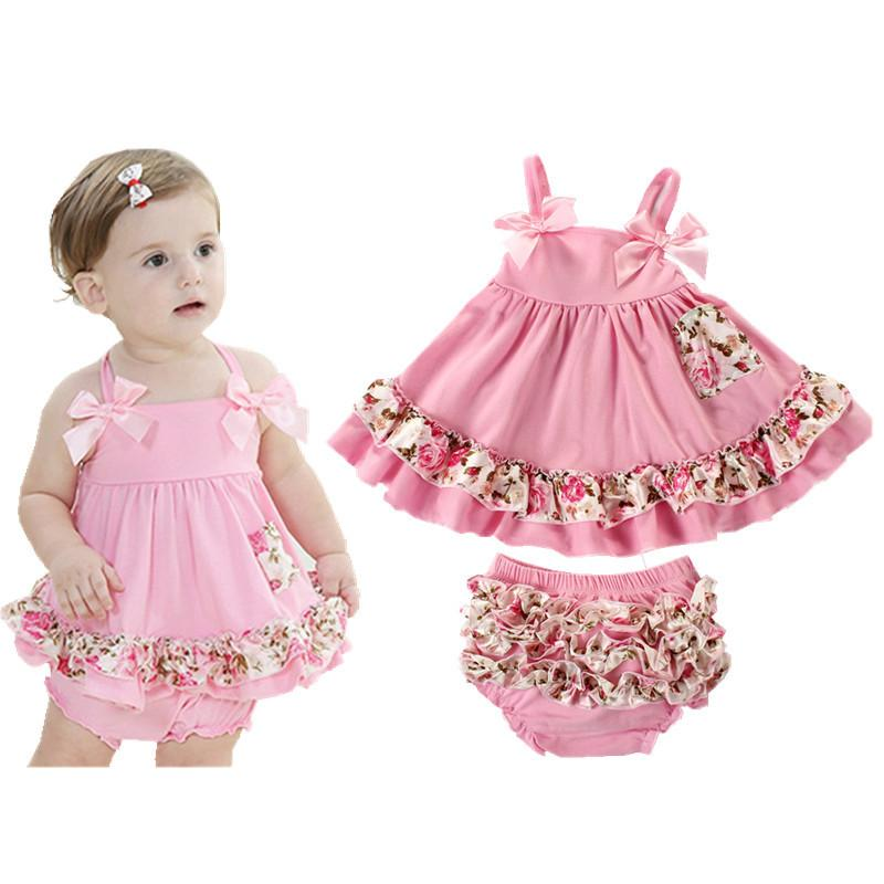 e282cf288 2019 2018 Summer Baby Clothing Newborn Baby Girl Clothes Dress ...