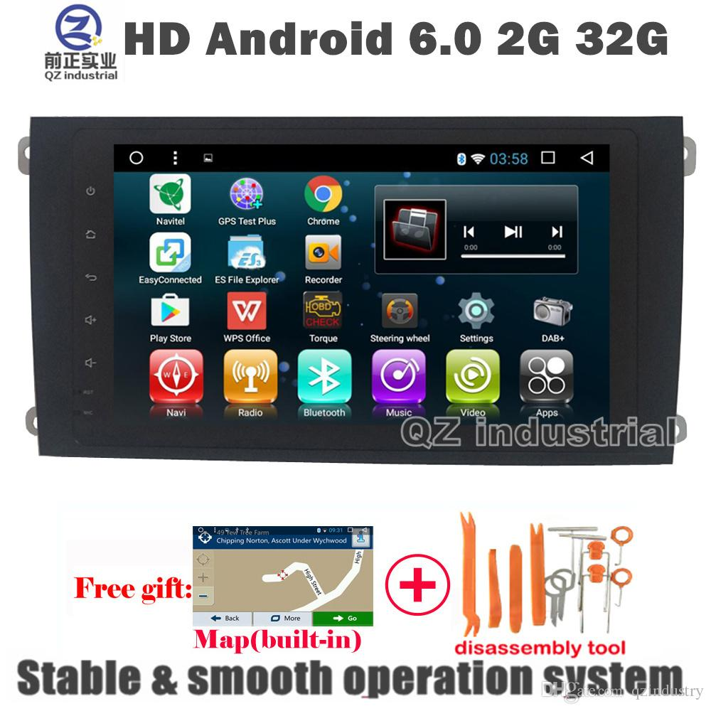 QZ industrial HD 9inch Android 6 0 for Porsche Cayenne car DVD player with  with GPS 3G 4G WIFI Radio Navi BT SWC Mirror link Stereo free map