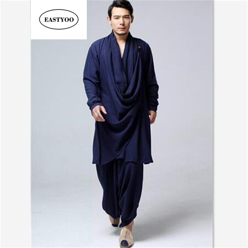 Chinese Kung Fu Clothing Men Linen Casual Clothing Plus Size Loose Tai Chi Plus Size Cotton Harem Pants Ethnic Clothes