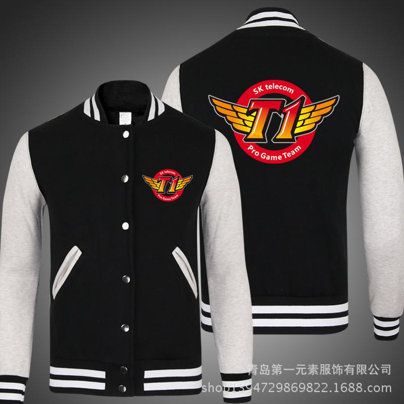 5924100e S8 Skt T1 2018 Embroidery Type Jacket Skt T1 Final Champions Team Jersey  Baseball Uniform T1Jacket Faker Men Male Coat Mens Jacket Styles Corduroy  Jackets ...