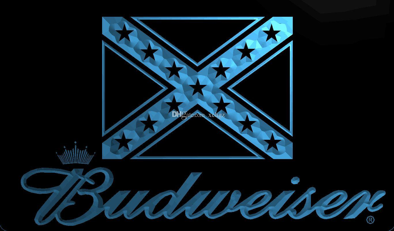 2018 f1931 rebel confederate flag budweisers bar neon led new 3d led