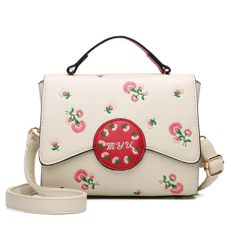 acf22942da Dropshipping Women Bag High Quality PU Leather Shoulder Bag Embroidery  Flower Flap Crossbody For Teenage Girls Brand Handbag Rosetti Handbags Name  Brand ...