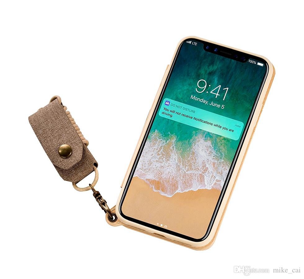 Electroplate TPU Flip Case Acrylic Make Up Mirror Cell Phone Cover For Ladies Hanging Rope Phone Accessories Case