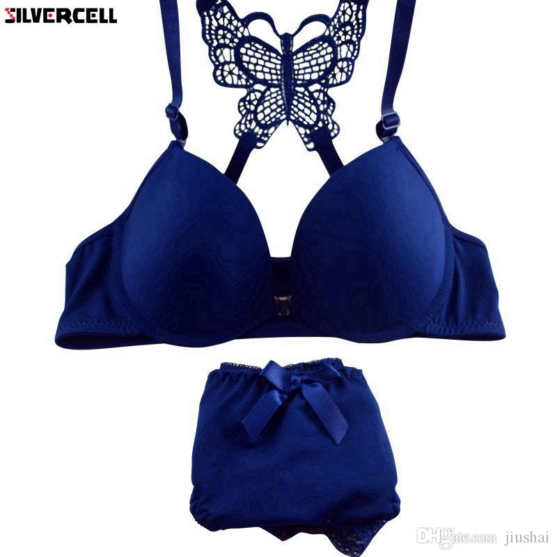 3109d3acd7796 New Women Sexy Bra Sets Front Closure Lace Push Up Bra + Panties ...