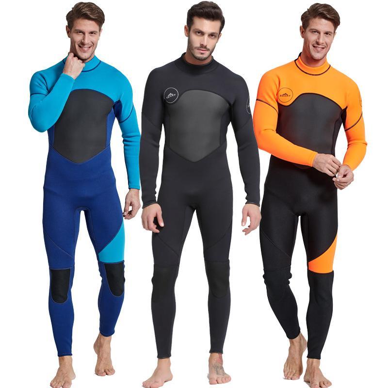 19fe5519d6 2019 Scuba Diving Wetsuit Men Diving Suit Neoprene Swimming Wetsuit Surf  Triathlon Wet Suit Swimsuit Full Bodysuit Jellyfish Suit From Qingchunxu