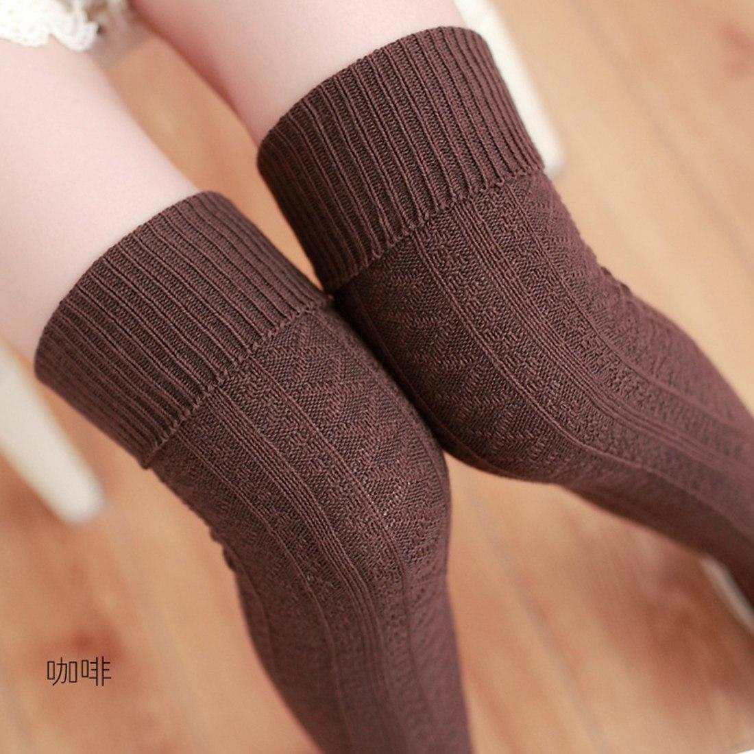 14e8eece4 2019 Beige Brown Red Gray Black Knee Socks Women Warm Thigh High Stockings  Stocking 2017 Fashion Sexy Cotton Long Socks Winter Medias From Caesarl