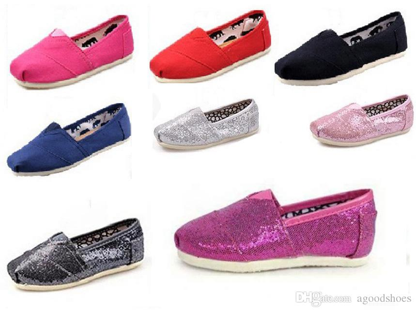 Free shipping Hot sale Brand girls boys flats EVA soild 8 colours casual shoes for kids sneakers Casual Canvas Shoes children glitter shoes