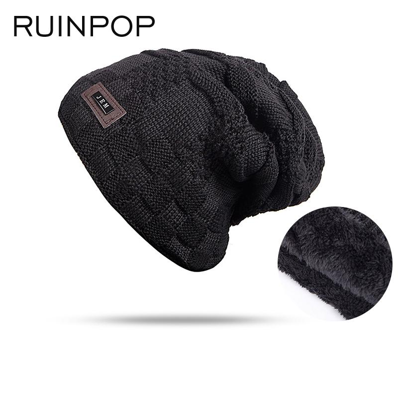 ebdb520d7427b New Fashion Winter Hat Women Men Knitted Hat Plus Velvet Warm Beanies Hats  Cap Unisex Boys And Girls Gorros Bone Drop Shipping Skullies   Beanies  Cheap ...