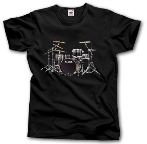 b1f11ce7fc2e2 Compre CAMISETA TAMA DRUMS S XXXL ROCK METAL PESADO POP MÚSICA Camisetas  Personalizadas De Alta Calidad Con Estampado De Camisetas Hipster Tees A   11.78 Del ...