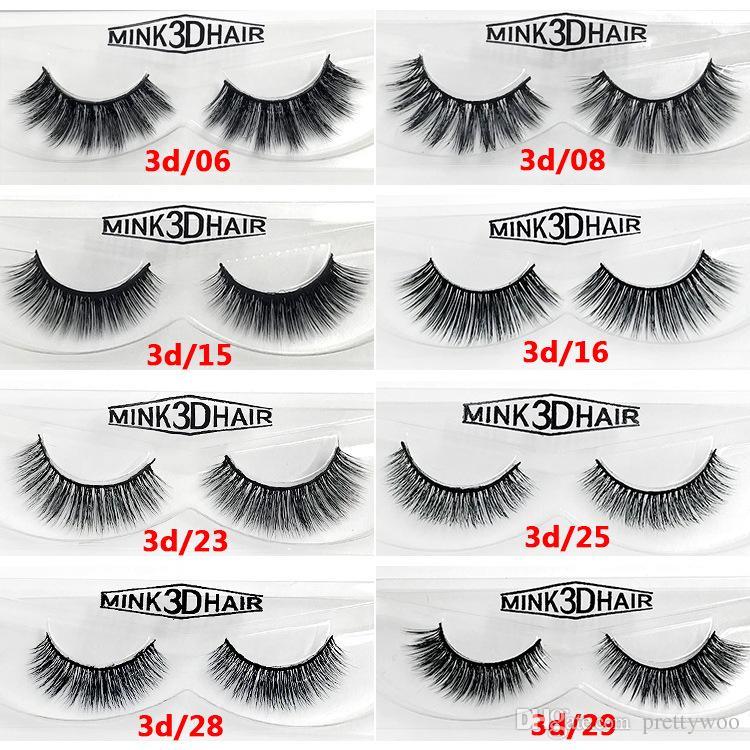 12 Styles Selling Pair 100 Real Siberian 3d Mink Full Strip False