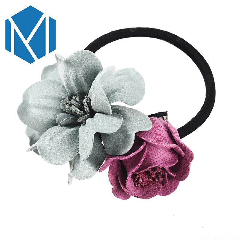 New Beauty Flower Elastic Hair Bands Scrunchy For Women Ponytail Holder  Hair Rope Accessories Headwear Girl S Floral Rubber Band Decorative Hair  Pins For ... b52693b9a07