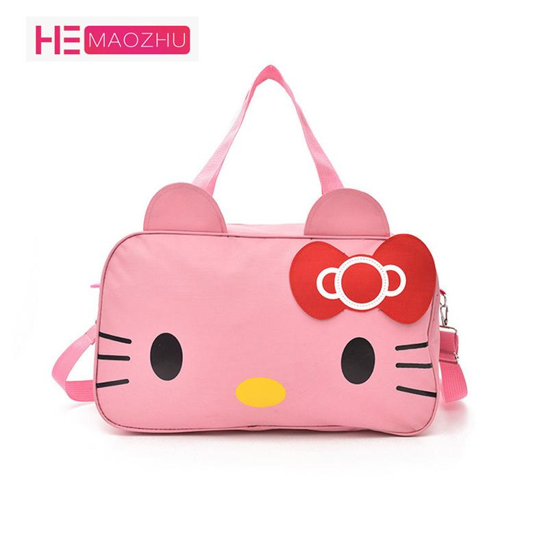 2018 Travel Bag Waterproof Large Capacity Cute Cartoon Duffel Bag Female  Portable Short Distance Travel Fitness Sports Sports Bags Gym Bags For Men  From ... a18cda690c0ad