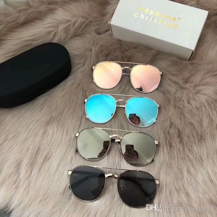 40ef3d4401 Compre Stephane Christian Vivide Gafas De Sol / Gafa De Sol Sonnenbrille  Unisex Gafas De Sol De Lujo Con Diseño Gafas Nuevo Con Caja A $57.37 Del  Baiyu168 ...