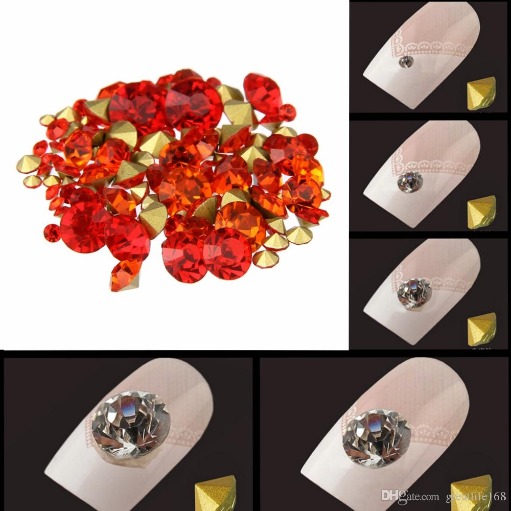 ef617e9a0f Nail Glass Rhinestones Hyacinth Color Mini Pointback Crystal Stones Loose  Strass Bead DIY Nail Art Decoration