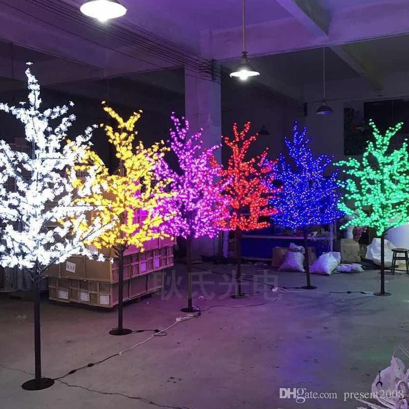8d0c325f4b4 Compre LED Impermeable Jardín Al Aire Libre Paisaje Melocotón Árbol Lámpara  Simulación 1