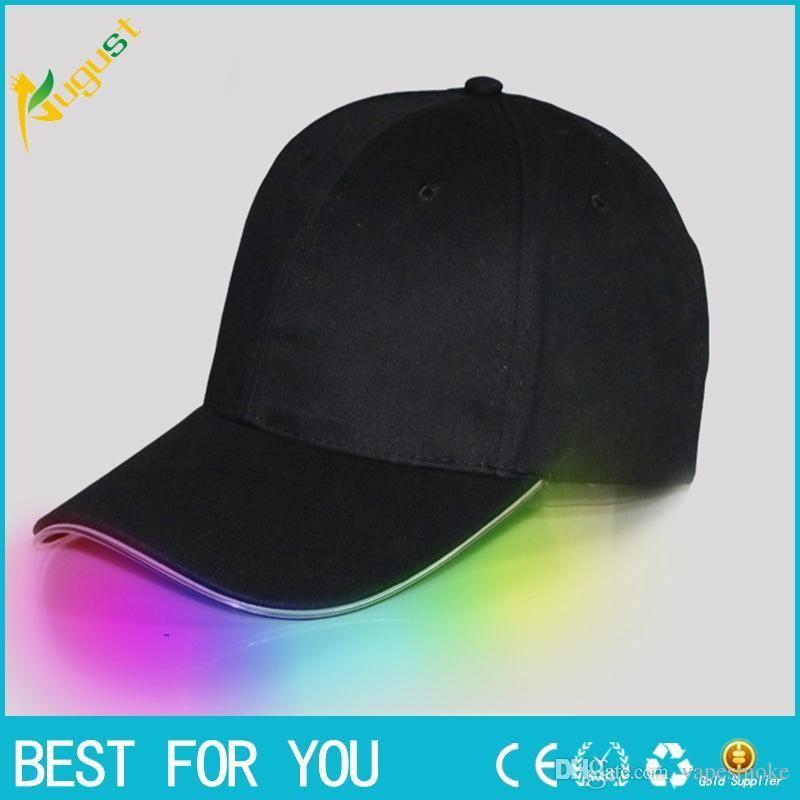 Baseball Hats LED Luminous Party Fiber Optic Hat Women Men Hockey Snapback  Basketball Ball Caps Unisex Visor Tourism Hat Custom Birthday Party Hats  Custom ... b471d083fb0