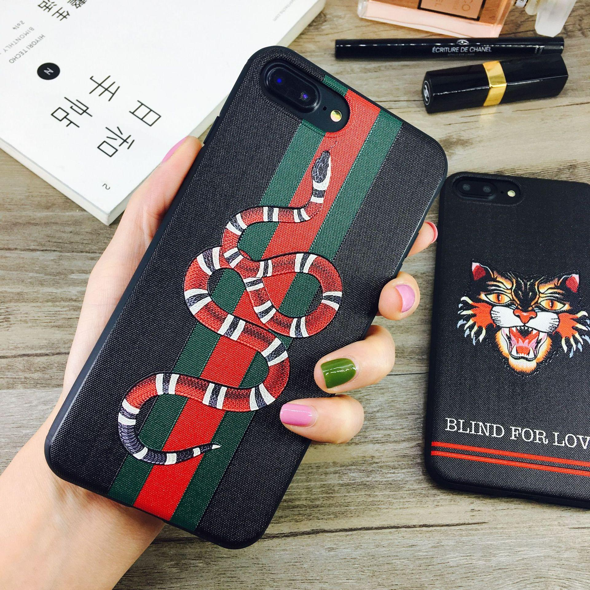 quality design ae5d7 2d7b8 Fashion Designer Phone Case for IPhone X 6/6S 6plus/6S Plus 7/8 7plus/8plus  Luxury Brand Case Back Cover Phone Case Protection